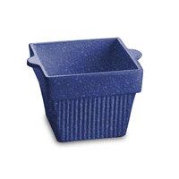 Tablecraft CW1460BS 1.5 Qt. Blue Speckle Cast Aluminum Square Condiment Bowl