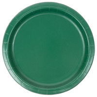 Creative Converting 473124B 9 inch Hunter Green Paper Plate - 240/Case
