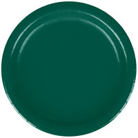 Creative Converting 793124B 7 inch Hunter Green Paper Lunch Plate - 240/Case