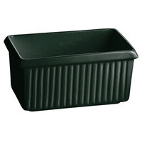 Tablecraft CW1510HGNS 2.25 Qt. Hunter Green with White Speckle Cast Aluminum Rectangle Server with Ridges
