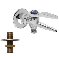 T&S BL-4245 Ground Key Hose Cock with Panel Flange and Integral Check
