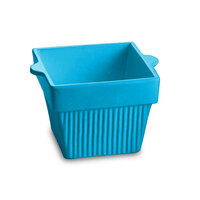 Tablecraft CW1460SBL 1.5 Qt. Sky Blue Cast Aluminum Square Condiment Bowl