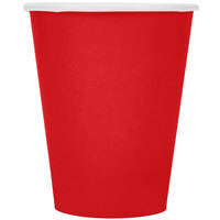 Creative Converting 561031B 9 oz. Classic Red Poly Paper Hot / Cold Cup - 240 / Case