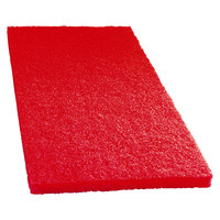 Scrubble by ACS 51-14x20 14 inch x 20 inch Red Buffing Floor Pad - Type 51 - 5 / Case