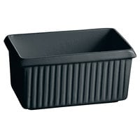 Tablecraft CW1510BK 2.25 Qt. Black Cast Aluminum Rectangle Server with Ridges