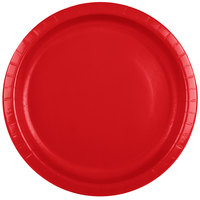 Creative Converting 501031B 10 inch Classic Red Paper Banquet Plate - 240/Case