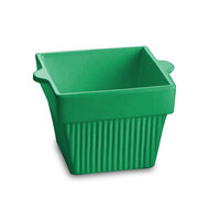 Tablecraft CW1460GN 1.5 Qt. Green Cast Aluminum Square Condiment Bowl