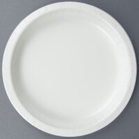 Creative Converting 79000B 7 inch White Paper Lunch Plate - 240/Case