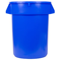 32 Gallon Blue Trash Can