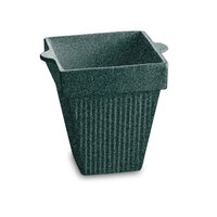 Tablecraft CW1470HGNS 2 Qt. Hunter Green with White Speckle Cast Aluminum Square Condiment Bowl