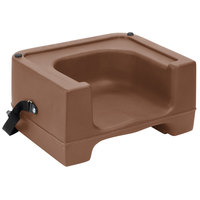 Carlisle 7111-406 Beige Plastic Booster Seat with Safety Strap - Dual Height