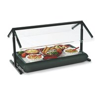 Carlisle 972203 Black Adjustable Double Sneeze Guard for Five Star Buffet Bars – 73 1/4 inch x 29 1/8 inch