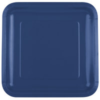 Creative Converting 463278 9 inch Navy Blue Square Paper Plate - 180/Case