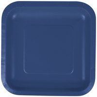 Creative Converting 453278 7 inch Navy Blue Square Paper Plate - 180/Case