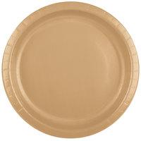 Creative Converting 50103B 10 inch Glittering Gold Paper Plate - 240 / Case
