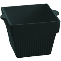 Tablecraft CW1480BKGS 18 oz. Black with Green Speckle Cast Aluminum Square Condiment Bowl