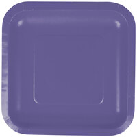 Creative Converting 453268 7 inch Purple Square Paper Lunch Plate - 180/Case