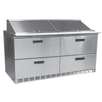 Delfield D4464N-24M 64 inch Mega Top Salad Prep Refrigerator with Four Drawers