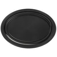 Carlisle 4441203 Palette Designer Displayware Black 21 inch x 15 inch Melamine Wide Rim Oval Platter - 4/Case
