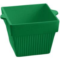 Tablecraft CW1480GN 18 oz. Green Cast Aluminum Square Condiment Bowl