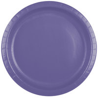 Creative Converting 50115B 10 inch Purple Paper Banquet Plate - 240/Case