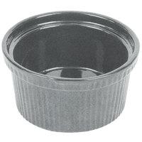 Tablecraft CW1620GR 1 Qt. Granite Cast Aluminum Souffle Bowl with Ridges