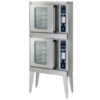 Alto-Shaam 2-ASC-2E/STK/E Platinum Series Stacked Half Size Electric Convection Oven with Electronic Controls - 240V, 5000W