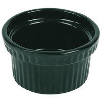 Tablecraft CW1610HGN 10.5 oz. Hunter Green Cast Aluminum Souffle Bowl with Ridges