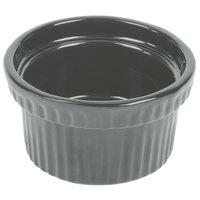 Tablecraft CW1610GY 10.5 oz. Gray Cast Aluminum Souffle Bowl with Ridges