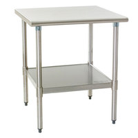 Eagle Group T2436B 24 inch x 36 inch Stainless Steel Work Table with Galvanized Undershelf
