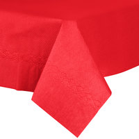 54 inch x 54 inch Red Tissue / Poly Table Cover - 50 / Case