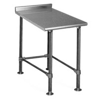 Eagle Group UT2418STEB Deluxe 18 inch x 24 inch Stainless Steel Equipment Filler Table