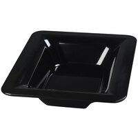 Carlisle 4442203 Palette Designer Displayware Black Melamine 1/2 Size 2 1/2 inch Deep Food Pan - 6/Case