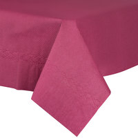 54 inch x 54 inch Burgundy Tissue / Poly Table Cover - 50 / Case