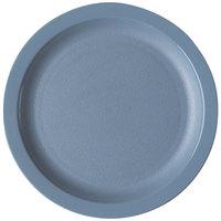 Cambro 825CWNR401 Slate Blue Camwear 8 1/4 inch Narrow Rim Plate - Polycarbonate 48/Case