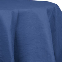 Creative Converting 923278 82 inch Navy OctyRound Tissue / Poly Table Cover - 12 / Case