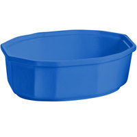 Tablecraft CW1780BL 2 Qt. Cobalt Blue Cast Aluminum Oval Prism Bowl