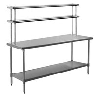Eagle Group T3060SE-FM 30 inch x 60 inch Stainless Steel Spec-Master Work Table with Flex-Master Overshelf Kit