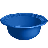 Tablecraft CW6210CBL 5 Qt. Cobalt Blue Cast Aluminum Queen Anne Salad Bowl