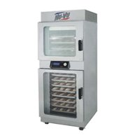 NU-VU OP-4/8A Double Deck Electric Oven Proofer Combo with Programmable Controls - 240V, 3 Phase, 7.2 kW