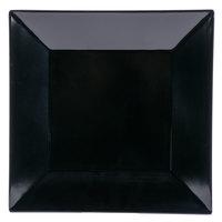 GET ML-90-BK 12 inch Black Siciliano Square Plate - 6/Case