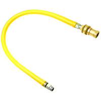 T&S HG-6C-72 Safe-T-Link 72 inch Coated Gas Connector Hose with 1/2 inch NPT Male Ends, Reverse Quick Disconnect, 90 Degree Elbow, and Street Elbow