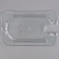 Carlisle 10337U07 StorPlus 1/9 Size Clear Universal Flat Lid with Spoon Notch