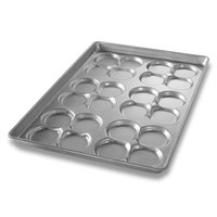 Chicago Metallic 42445 24 Mold Glazed Clustered ePAN Hamburger Bun / Muffin Top / Cookie Pan