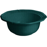 Tablecraft CW6220HGNS 10 Qt. Hunter Green with White Speckle Cast Aluminum Queen Anne Salad Bowl
