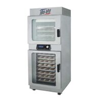 NU-VU OP-4/8A Double Deck Electric Oven Proofer Combo with Programmable Controls - 7.2 kW
