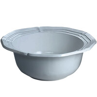 Tablecraft CW6200GY 2 Qt. Gray Cast Aluminum Queen Anne Salad Bowl