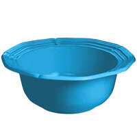 Tablecraft CW6200SBL 2 Qt. Sky Blue Cast Aluminum Queen Anne Salad Bowl