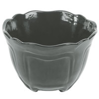Tablecraft CW1454GY 1.3 Qt. Gray Cast Aluminum Round Condiment Bowl