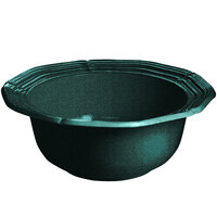 Tablecraft CW6200HGNS 2 Qt. Hunter Green with White Speckle Cast Aluminum Queen Anne Salad Bowl